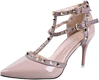 studded t bar court shoes