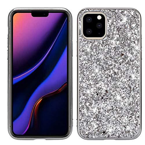 OneYMM beschermhoes voor iPhone 11/11PRO/11PRO Max, met glitter, ultradun, silicone, PC + TPU, gel, flexibel, schokbestendig, krasbestendig