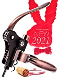 RedNoel Rabbit Wine Corkscrew Opener Set Legend Bottle Opener Rabbit Wine Opener Wine Accessories Opener Wine Corkscrew Opener Lever Cork Wine Kit: With Foil Cutter,Wine Stopper And Extra Spiral