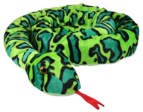 My-goodbuy24 XXL Schlange super weich 254 cm Plüschtier Kuscheltier Stofftier Plüsch Boa Cobra Python Anakonda Spielzeug auch als Zugluftstopper geeignet - grün