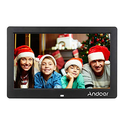 Andoer 10 inch Digital Picture Frame HD Wide Screen High Resolution Digital Picture Frame Alarm Clock MP3 MP4 Movie Player with Remote Control