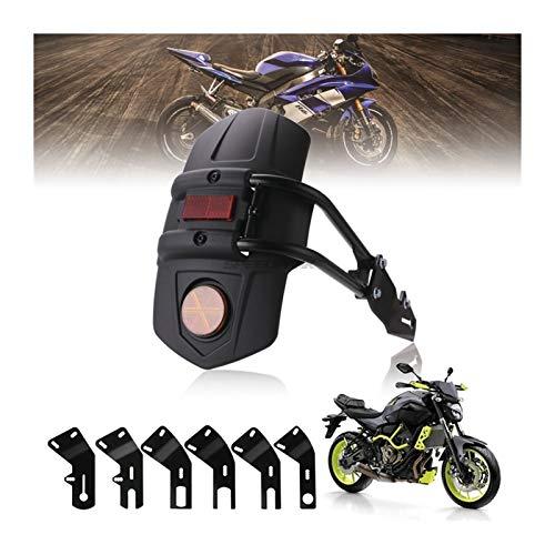 Motorrad KotflüGel Vorne Motorradzubehör Universal schwarzer hinterer Fenderhalterung Moto Mordguard Fender für...