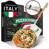Pizza Divertimento® Pizzaschieber - Pizzaschaufel aus rostfreiem Aluminium [83 cm]- Praktisches & robustes Gewinde - Pizzaheber mit abgerundeten Kanten