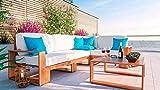 ARTELIA Mauritio Holz Loungemöbel - Gartenmöbel-Set für Garten, Wintergarten und Balkon, Terrassenmöbel Sitzgruppe, Natur Akazie