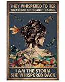 AZSTEEL They Whispered to Her, I Am The Storm Poster |