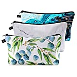 3 Pack Cosmetic Bags, Mini Makeup Bags for Women, Functional Makeup Pouch Travel Makeup Case with Zipper, Waterproof Toiletries Organizer Bag, Cute Makeup Bags Gifts for Girls(Style C)