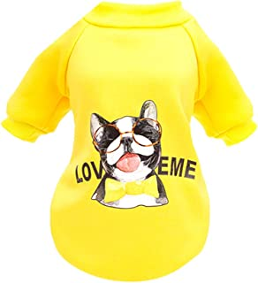 TOPBIGGER 2020 New Pet Clothes Fleece Dog Vest Cartoon Dog Print Winter Warm Coat Clothes for Dog Sweater Outwear Costume Pet Dog Warm Coat Jacket Pullover Sweatshirt for Dogs