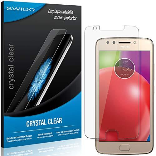 SWIDO Schutzfolie für Motorola Moto E4 [2 Stück] Kristall-Klar, Hoher Festigkeitgrad, Schutz vor Öl, Staub & Kratzer/Glasfolie, Bildschirmschutz, Bildschirmschutzfolie, Panzerglas-Folie