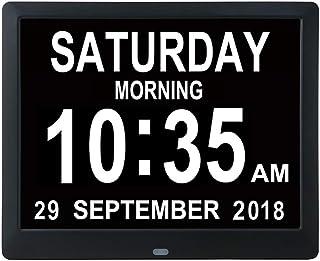 Mars Jun Digitale wekker, digitale kalender dagklok voor dementie zwakke gelezen, kinderen, senioren, slechtheid en Alzhei...