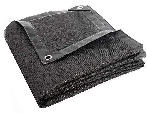 ZHPBHD Cortina de la Red Sunblock Aislamiento térmico Sheet Covers Refugio Lona de Polietileno Cortavientos Heavy Duty Lona (Color : Black, Size : 2.8x4.8m)
