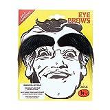 Black Bushy Stick-on Eyebrows