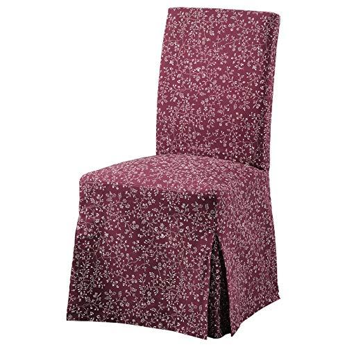 MYSTYLO Collection Stuhlhusse lang Ryrane dunkelrot waschbar pflegeleicht Material: 100% Baumwolle