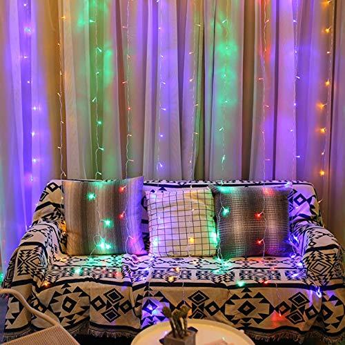 Led-ijspegels, AC110-220 V, gordijn, licht, slinger, lamp, hanger, 3 m, voor bruiloft, buiten, tuindecoratie, meerdere kleuren