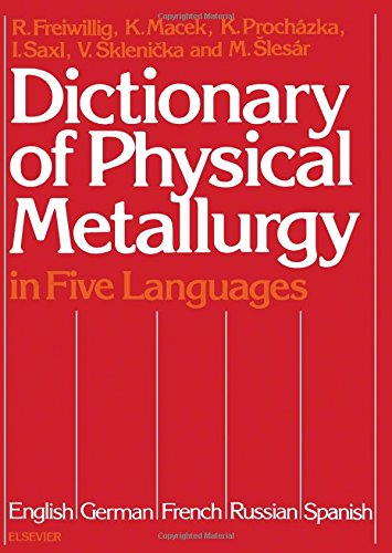 Dictionary of Physical Metallurgy in Five Languages: English, German, French, Russian, and Spanish