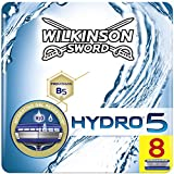 Wilkinson Sword Hydro 5 - Caja de 8 Recâmbios de Cuchillas de Afeitar para Hombre, Azul