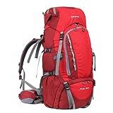 KingCamp Peak Kletterrucksack - 50 + 5L kompakter Innenrahmen Verstellbarer Gürtelriemenrucksack zum Wandern Camping Reisen