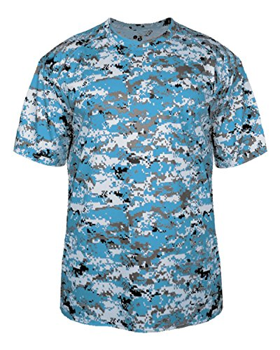 Badger Sport Adult 3XL Columbia Light Blue Digi-Camo Moisture Wicking Jersey Uniform Shirt