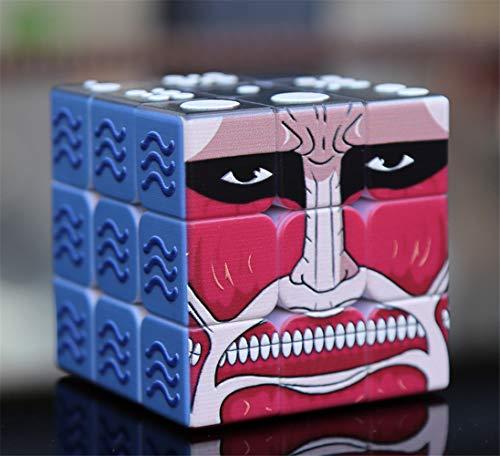 Speed Cube 3X3x3 Personalidad de Gama Alta Blind Magic Cube 3D en Relieve Multi-Estilo Multi-Estilo Tercera Orden Blind Box Puzzle Magic Cubes Toy