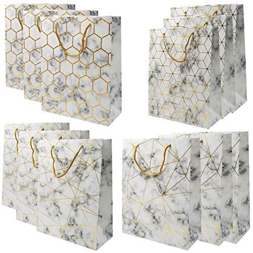 Bolsas medianos del regalo - bolso de papel de las compras de la Navidad de 12 PC, bolsos del regalo del cumpleaños del partido [30 x 32 x 12 cms]