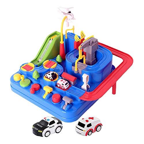 Tianbi Autospielzeug Stadtrettungstechnik Fahrzeuge Spielsets Auto-Abenteuerspielzeug Vorschul-Lernspielzeug Fahrzeugrätsel Puzzle-Rennstrecken-Spielsets für Kleinkinder Kinderspielzeug