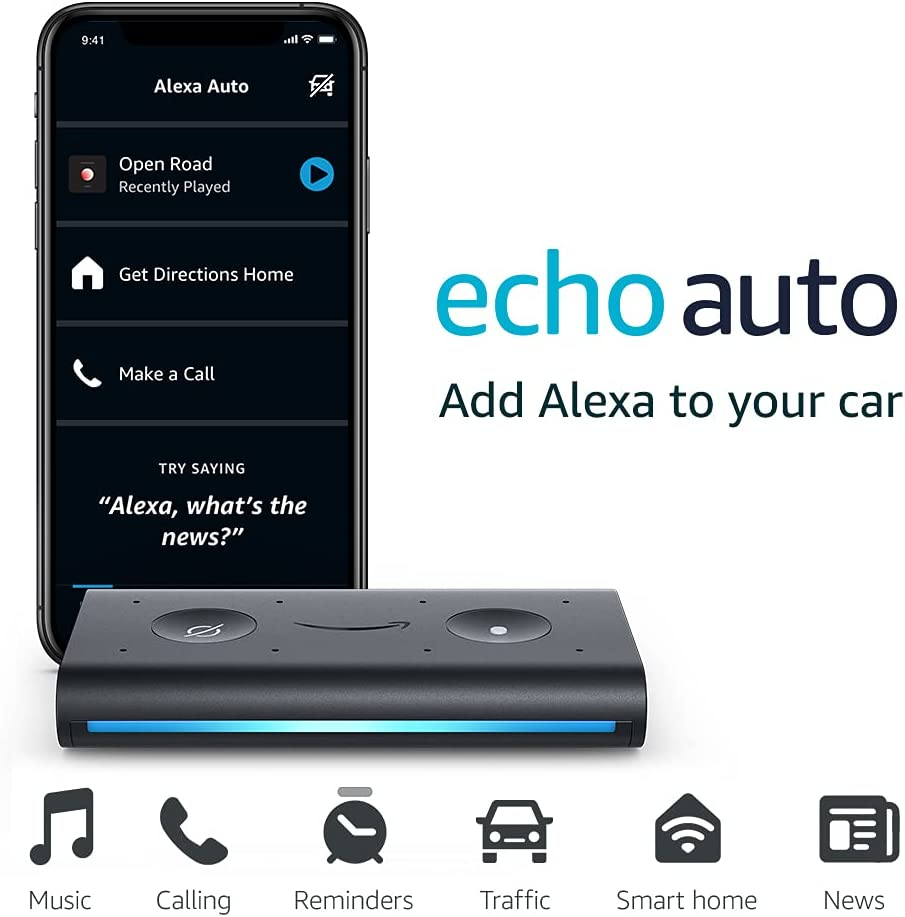 Amazon Echo Auto Hands-free Alexa in your car with your phone $19.99 Coupon