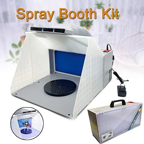 TABODD Tragbare Hobby Airbrush Lackierkabine Kit Abgasfilter Extractor Set mit CE-Zertifikat Absaugvorrichtung Filter Absauganlage für Airbrush-Arbeiten Modellbau