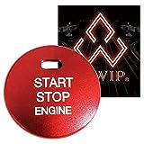 ALWIP(アルウィップ)【トヨタ・ダイハツ対応】イグニッション スイッチ エンジンスタート プッシュ ボタン アルミ カバー(赤)