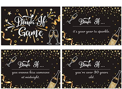 Faisichocalato 36 Count New Year Eve Game Cards, Happy New Year Game Ideas, 2020 New Years Eve Party Game, Naughty Adult Game Cards, Girls Night Out