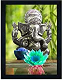 SIZE:- 14 X 11 INCH Package contains : ONE UV Textured Print Painting Framed without glass Material : High quality synthetic frame. Usage: It can be used for living room, home decor and for gifting purposes painting paintings art print digital ganesh...