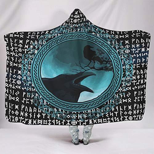 Dogedou Viking - Manta térmica para Adultos y niños, poliéster, Blanco, 150 x 200cm