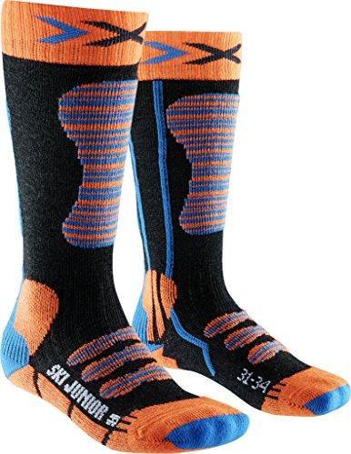 X-Socks, Calzini da Sci per Bambini, Bambini, Ski Junior, Orange/Turquoise