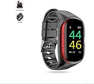WANGCHENGLONG Bluetooth Invisibles M1 Bluetooth Headset 2 en 1 Auriculares con El Reloj del Auricular inalámbrico Deportes...
