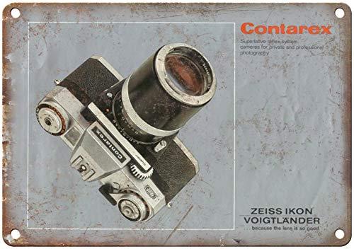 Todghrt Contarex Zeiss Ikon - Cartel metálico para cámara de Fotos (30,5 x 40,6 cm, Aluminio)