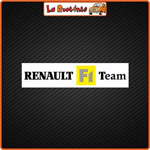 La Ruotante 2 stickers Renault f1 Team Vinyl R4 R5 6 9 11 19 21 25 Alpine Clio Megane Laguna 14x3 Cm