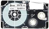カシオ ネームランドテープ 9mm 白テープ(黒文字) 1セット(30個:5個×6パック) XR-9WE-5P