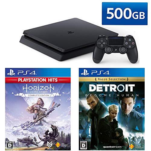 ソニー・インタラクティブエンタテインメント『PlayStation4(HDD容量500GB)+ゲームソフト2本セット』