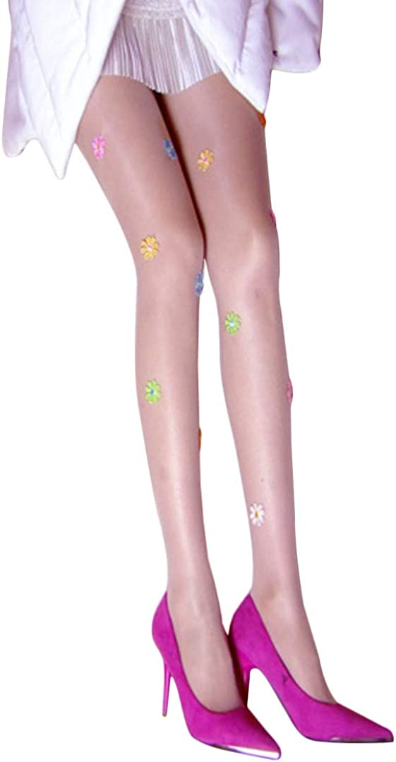 Radish Stars Sales of SALE items from new works Women Ultra-thin Product Embroidered Flower Pantyhose Run R