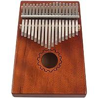 RETYLY カリンバ 親指ピアノ 17鍵 マホガニー 木製 バッグ付き、ハンマーとミュージックブック、音楽愛好家、初心者、子供に最適です