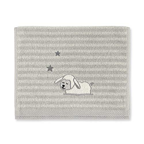 Sterntaler Serviette de Bain Enfant Mouton Stanley, Âge : À Partir de 0 Mois, 50 x 30 cm, Gris
