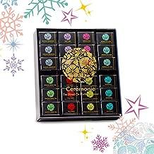 Gourmet Tea Party Tray - Ceremonie Tea. Premium Gift Box Variety Sampler & Elegant Wood Tray Display Case. 48 Individually Wrapped Silky Mesh Bags of Herbal Teas & Tea Blends. 24 Flavors (2 Each)