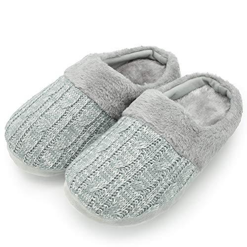 CityComfort Pantofole per Uomo e Donna in Memory Foam con Pelliccia Sintetica Ciabatte...