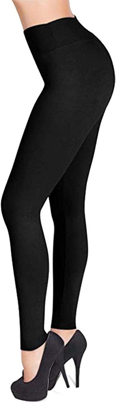 Harky Homn Women's High Waisted Leggings -Soft & Slim Full Length Opaque Fashion Leggings