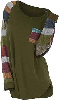 Missroo Plus Size Contrast Color Stripe Pocket T Shirt