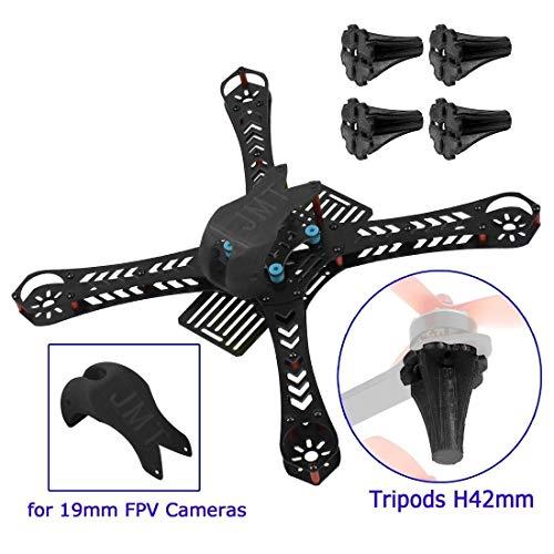CHENJUAN Mini Racing Drone Frame Kit 310/360/380 mm rack impresión 3D 19 mm FPV cubierta de toldo y trípode aterrizaje para bricolaje RC Quadcopter Drone Case