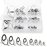 iztor Fishing Rod Guides 60Pcs, Silver Integrated All Stainless Steel Bait Casting Rod Guide Repair...