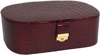 Stones Bridge Designer Fashionable and Luxurious Leather Jewellery Box.(Brown)