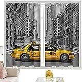 Cortina opaca con bolsillo para barra americana, Downtown New York Building W52 x L84 pulgadas