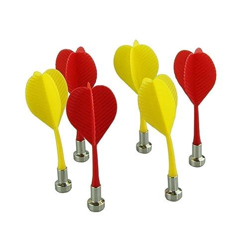 Fulltime(TM) Bullseye Target Game Plastic Wing Magnetic Darts Needle - Set of 6 (Multicolor)