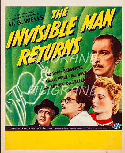 PostersAndCo TM The Invisible Man Returns Rlbu-Póster de Reproducción 50 x 70 cm de 1 Póster Vintage y Retro