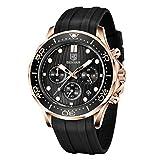 BENYAR elegante orologio da polso per uomo Cinturino in silicone orologio al quarzo imperm...
